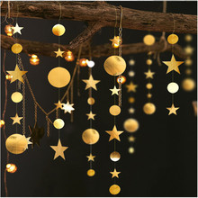 4m Golden Silver Star Garland Christmas Decorations for Home New Year Decoration Ornaments Navidad Kerst Decoratie.