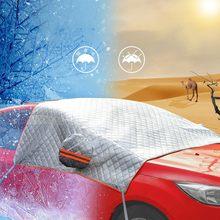 2020 su geçirmez araç ön camı kar kapağı güneş gölge koruyucu kalın kar koruma kapağı ekstra kalın çift katmanlı tasarım # BL5