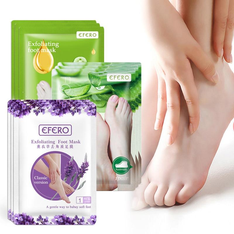 3pairs Lavender/Aloe Feet Exfoliating Foot Masks Peeling Dead Skin Feet Mask Socks For Pedicure Socks Cream For Feet Care
