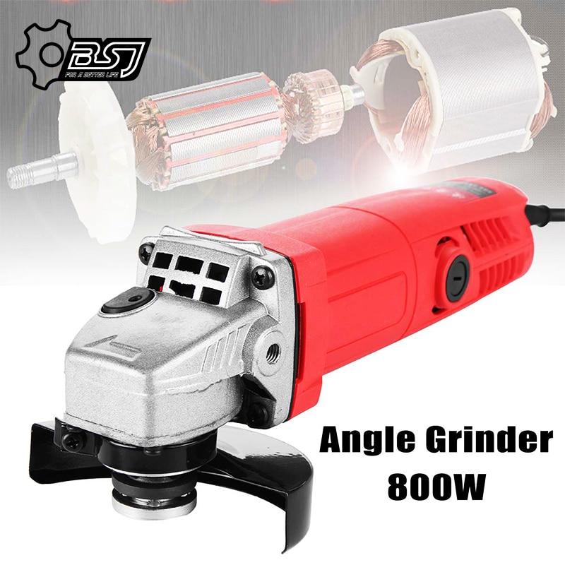 800W 220V 100mm Portable Electric Angle Grinder Muti-Function Household Polish Machine Grinding Cutting Polishing Machine