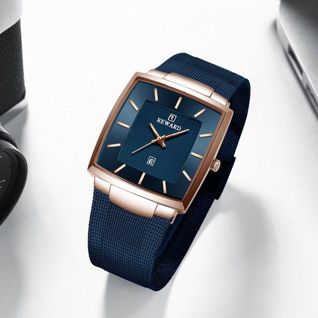 REWARD Fashion Watch Men Waterproof Slim Mesh Military Wrist Watches Men Quartz Sports Business Male Watch Relogio Masculino 4
