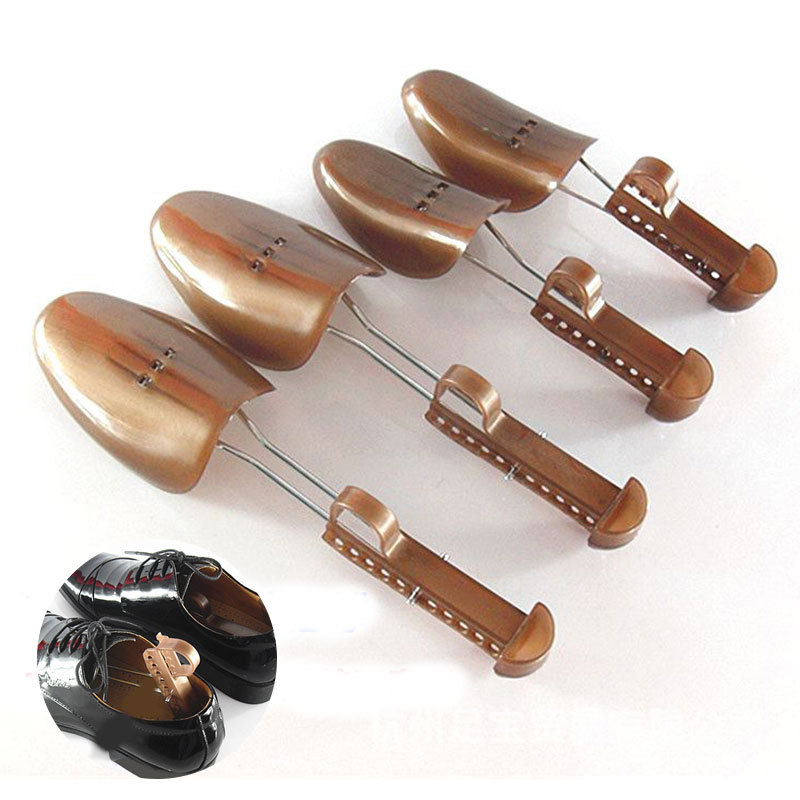 1 Pair Adjustable Men Women Plastic Boots Shoe Stretcher Durable Shoes Support Shoe Tree Expander Extender Brown Color Keeper