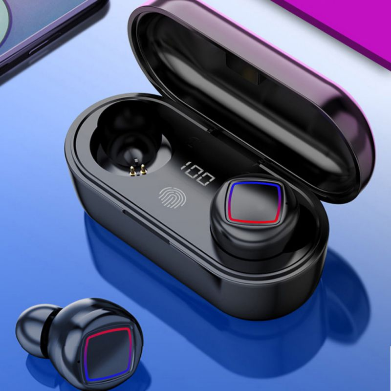 <font><b>TWS</b></font> Wireless Bluetooth 5.0 Earphones Stereo Fingerprint <font><b>Touch</b></font> Separate Fuselage Design 400Mah Headset with Mic for Xiaomi image