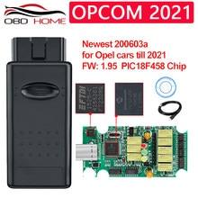 Opcom 2021 v1.99 v1.7 com pic18f458 ftdiobd2 diagnóstico scanner leitor de código redefinir programa ecm/bcm para astra para opel 2021