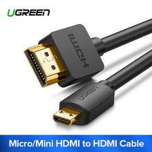 Ugreen Micro HDMI to HDMI Cable 4K Micro Mini HDMI Male to Male Adapter Connector for HDTV GoPro Hero Tablet Micro HDMI Cable(China)