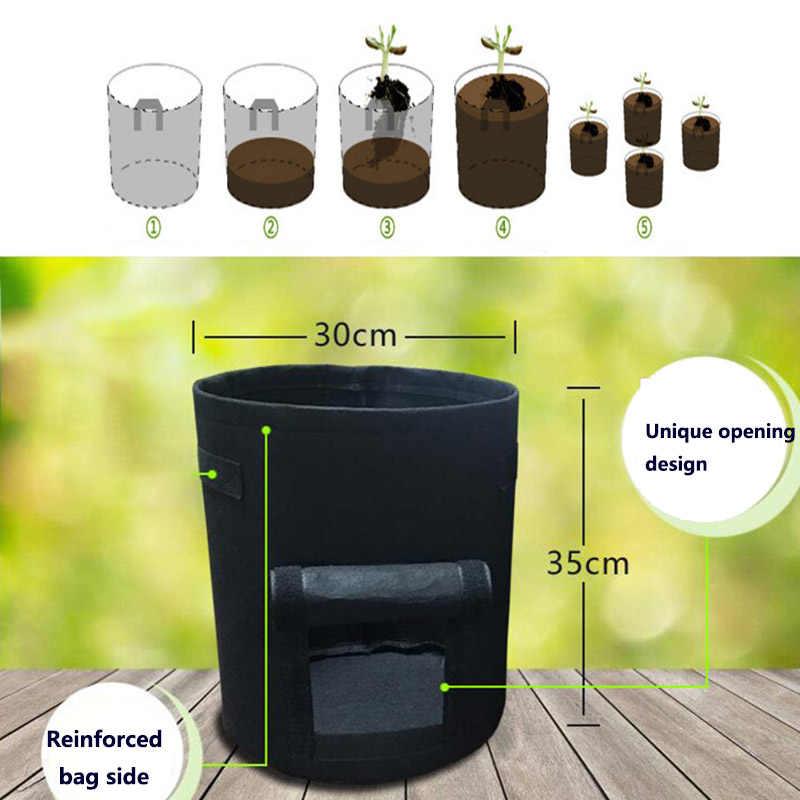 3 サイズ植物を成長家庭菜園ポテトポット温室野菜栽培バッグ保湿ジャルダン垂直ガーデンバッグ苗