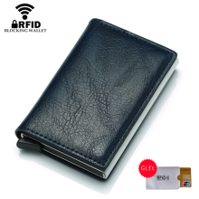 купить Bycobecy Rfid CreditCard Cardholder Blocking Men id Credit Card Holder Wallet Leather Metal Aluminum Business Bank Card Case дешево