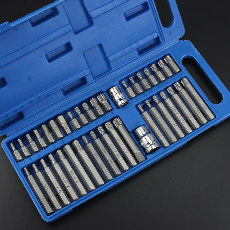 Metric Shank Socket Wrench Socket Set 8in Ratchet Socket Drive 40Pcs Hex Star Adaptor Impact 1 XZN Torx 3 Set 2in Driver Spline