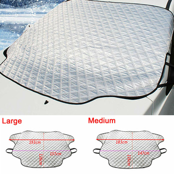 M/L Car Truck Windshield Snow Cover Magnetic Winter Ice Frost Guard Sun Shade Silver Windshield Protector Snow Cover Snow Fr 5