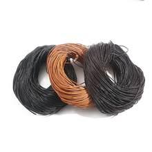 1-6mm redondo cabo de corda de couro marrom escuro/nude/preto beading cordões joias descobertas para diy colar pulseira material suprimentos