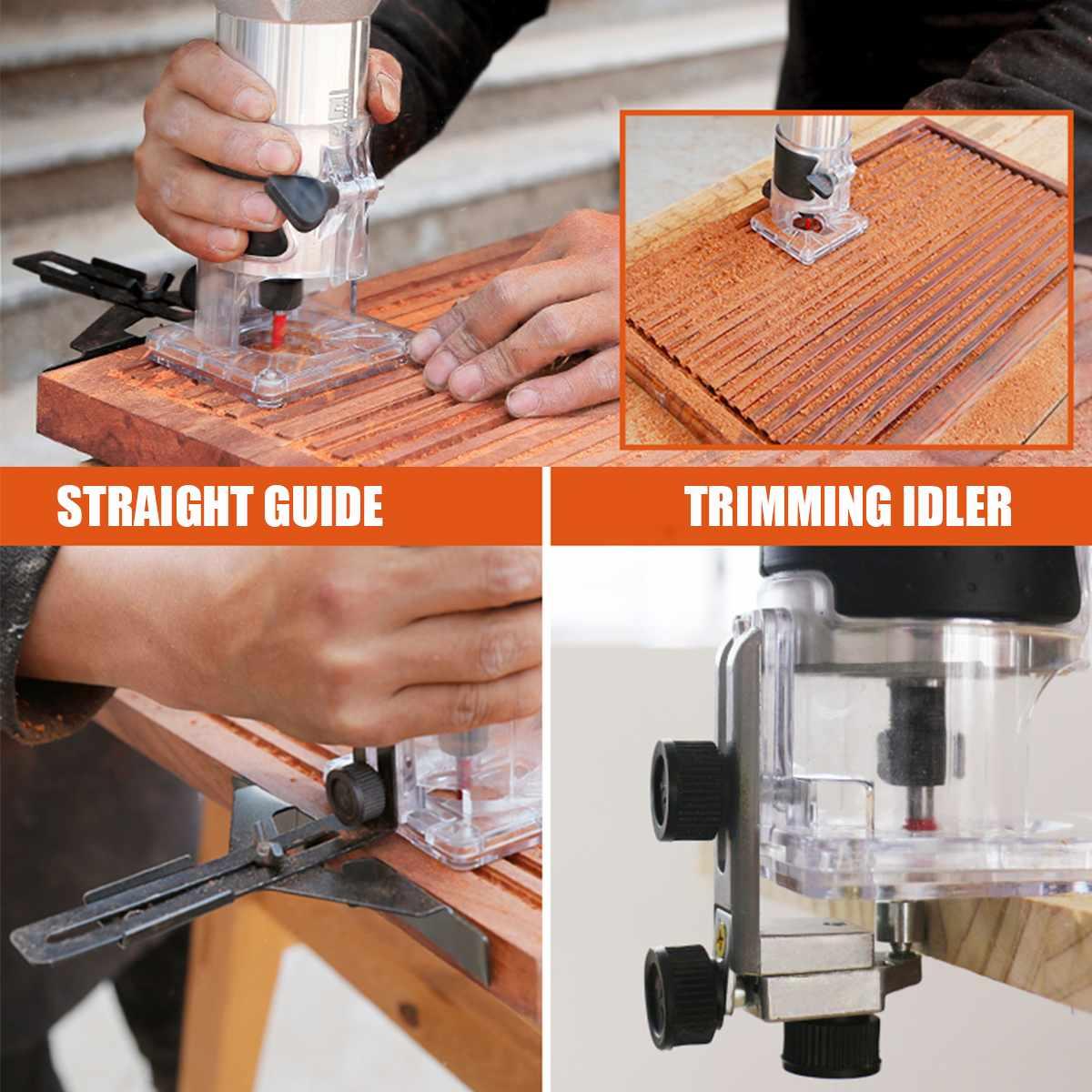 2200W Elektrische Hand Trimmer Holz Router 6,35mm Holzbearbeitung Laminator Zimmerei Trimmen Schneiden Carving Maschine Power Tool Set