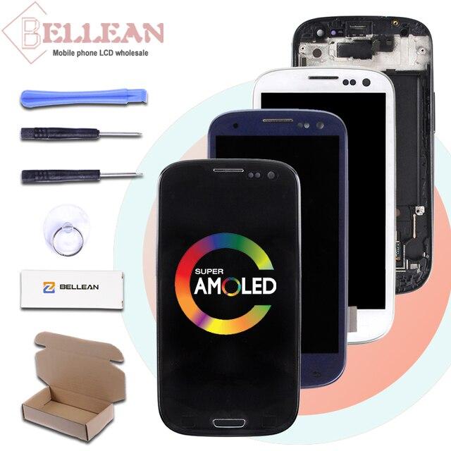 Catteny i9301 i9305 Lcd ekran Samsung Galaxy S3 Lcd i9300 ekran dokunmatik ekran Digitizer meclisi + çerçeve + homebutton