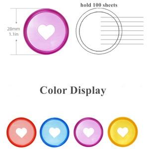 Image 5 - 100 Pcs 28mm Candy Color Heart Disc Binder for Discbound Notebooks/Planner Diy DiscboundDiscs Loose Leaf Binding Rings LF19 308
