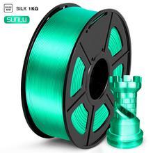 PLA Filament Silk 1kg Green Color Silk Texture Diameter 1.75mm Tolerance 0.02mm High Toughness FDM 3D Printer Printing Material