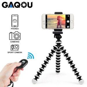Image 1 - GAQOU Mini Octopus Tripod Bracket Remote Shutter Portable Flexible For Gopro Camera Mobile Phone Tripods Foldable Desktop Stand