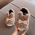 Новинка; зимние ботинки для маленьких девочек и мальчиков; теплые уличные детские ботинки; водонепроницаемые Нескользящие Детские Плюшевы...