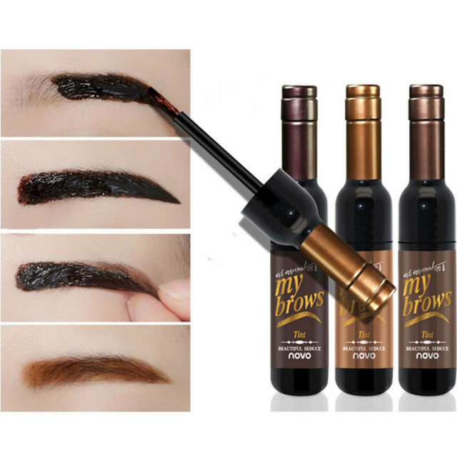 Peel-off Tattoo Eyebrow Gel Long-lasting Dye Tinted Brow Cream Waterproof Paint Makeup Eye Tint Cosmetics Black Brown Eyebrows