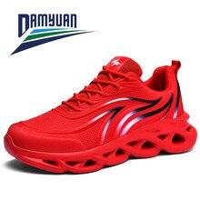 Damyuan 2020 nova moda verão sapatos masculinos tênis de borracha tênis de corrida esportes respirável rendas zapatos hombre tamanho grande 48