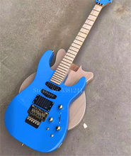 ¡Sin flete de guitarra eléctrica azul de 6 cuerdas... herrajes dorados! Camiseta negra, Regalos para alcantarillas
