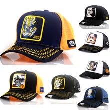 New Brand Goku Super 12 Styles Dragon Ball Snapback  Cotton Baseball Cap Men Women Hip Hop Dad Mesh Hat Trucker Dropshipping