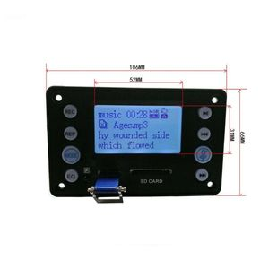 Image 4 - DC 5V 4.0 מיקרופון הקלטת יציאת Bluetooth MP3 מפענח לוח מודול USB SD WAV WMA