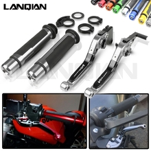 For Suzuki DL650 V-STROM Motorcycle Brake Clutch Lever & 7/8 Handlebar Grips DL 650 VSTROM 2004-2010 2005 2006 2007 2008 2009 стоимость