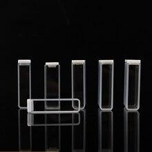 2 piezas de cuarzo cubeta 10mm para espectrofotómetro analizador
