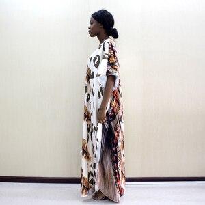Image 4 - 2019 Dashikiage أحدث الجدد ليوبارد و ريشة نمط طباعة الأفريقية Dashiki زائد حجم النساء اللباس أزياء النساء حزب اللباس