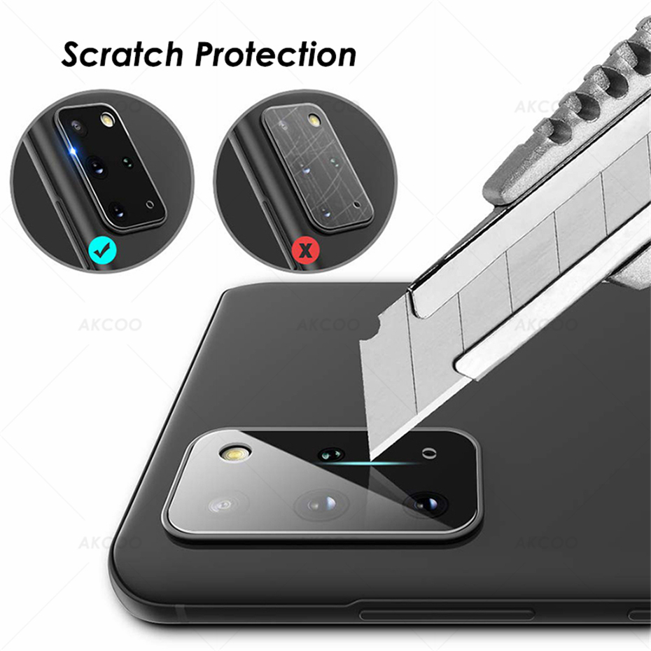 Akcoo S20 Anti-Scratch Flexible Glass Camera lens Protector HD Transmittance for Samsung Galaxy S20 Plus Camera 10