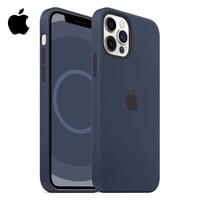 Magsafe-funda magnética de silicona líquida para móvil, carcasa de protección anticaída de carga inalámbrica para iPhone 12 Pro Max 12 Mini