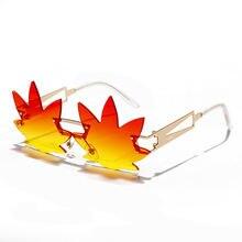 Солнцезащитные очки в Форме Кленового Листа без оправы