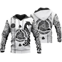 Liumaohua Viking Warrior Tattoo 3D Printed Shirts casual 3D Print Hoodies/Sweatshirt/Zipper Man Women satan Tattoo tops 004