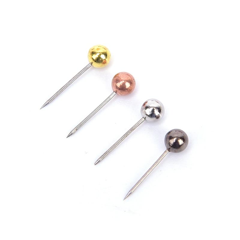 200pcs/lot  Metal Ball Head Pins Decorative Push Thumbtacks Steel Point Bulletin Board  2