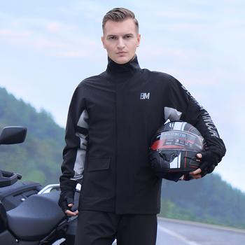 Płaszcz przeciwdeszczowy spodnie garnitur wodoodporny Split płaszcz przeciwdeszczowy pojedynczy męski motocykl Full Body przeciwdeszczowy płaszcz przeciwdeszczowy tanie i dobre opinie CN (pochodzenie) CT-000001 Polyester Fiber M L XL XXL XXXL 1 person Classic black Raincoat split raincoat Summer 2020 Thin