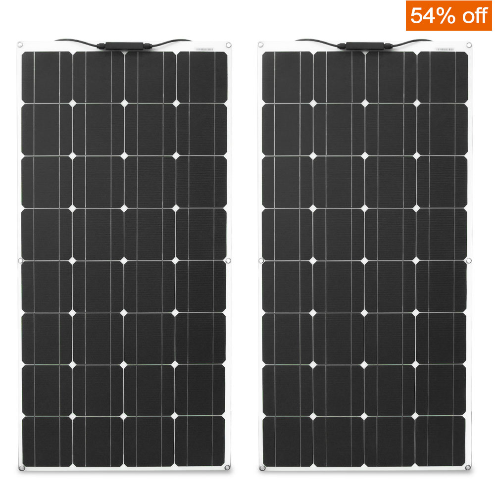 Genuine <font><b>12v</b></font> <font><b>100W</b></font> <font><b>solar</b></font> <font><b>panel</b></font> 200 watt photovoltaic Flexible <font><b>Solar</b></font> module image