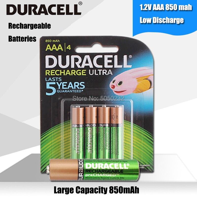 DURACELL Original 1,2 V 850mAh AAA Akkus Für Taschenlampe Spielzeug Kamera PreCharged hohe kapazität