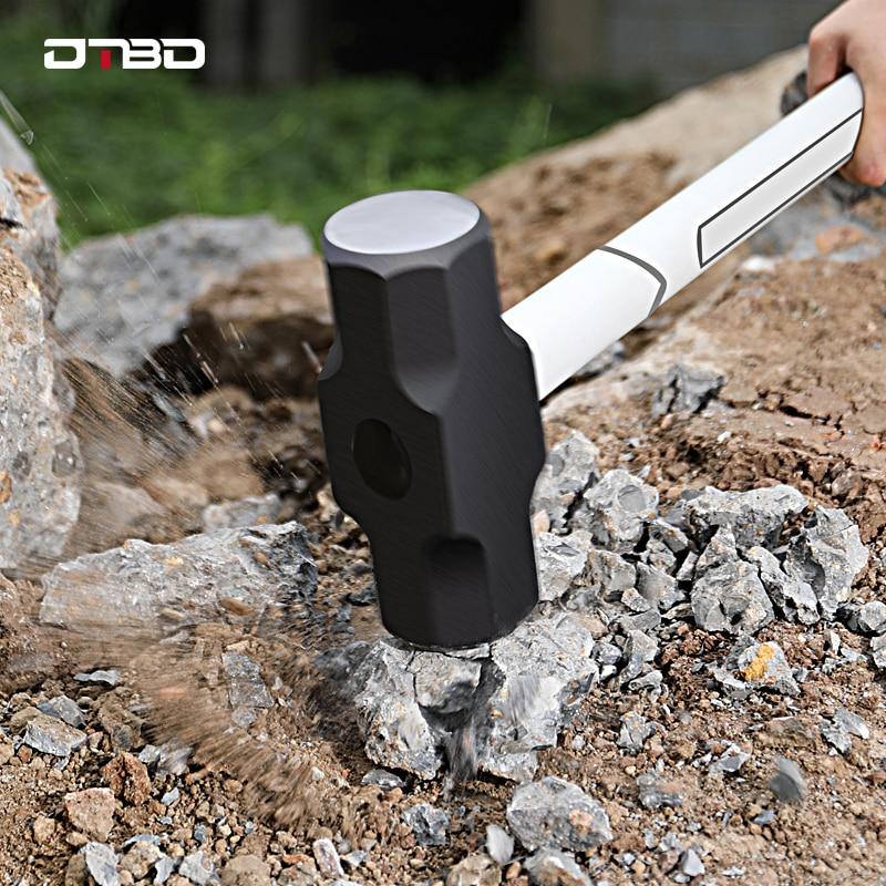 2 3 4LB Heavy Duty Sledge Hammer Professional Carbon Steel Hammer Cushioning TPRHandle Engineering Geological Hammer Rescue Tool
