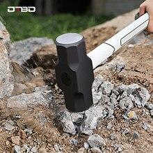 2/3/4LB Heavy Duty młot udarowy profesjonalne węgla młotek stalowy amortyzację TPRHandle inżynierii geologicznych młotek narzędzie ratunkowe