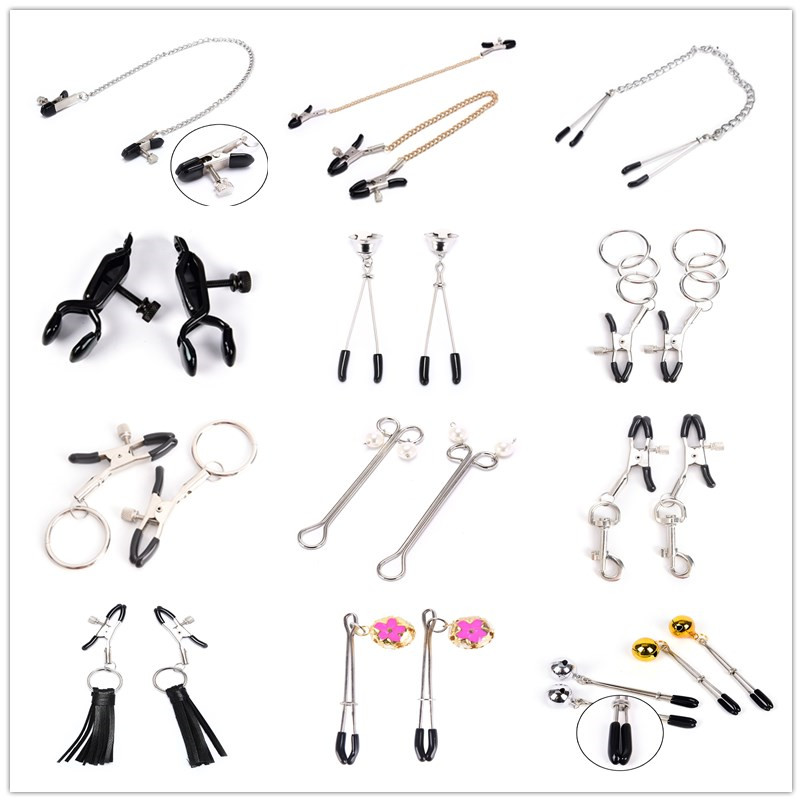 Erotic collection nipple clamps