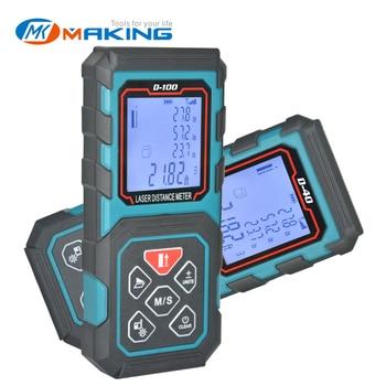 цена на MAKINGTEC Laser Rangefinder Distance Meter 60M80M100M Digital Tape Measure Range Finder Roulette Laser Length Measuring Meter