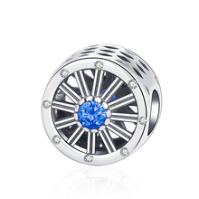 Strollgirl new 925 Sterling Silver Round Ferris Wheel Beads Hollow Zircon Pendant Suitable for Pandora Bracelet fashion jewelry