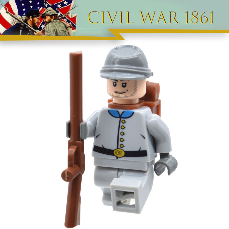 Limited Lot The South Confederate American Civil War Soldier Revolutionary War MOC Building Blocks Toy For Children