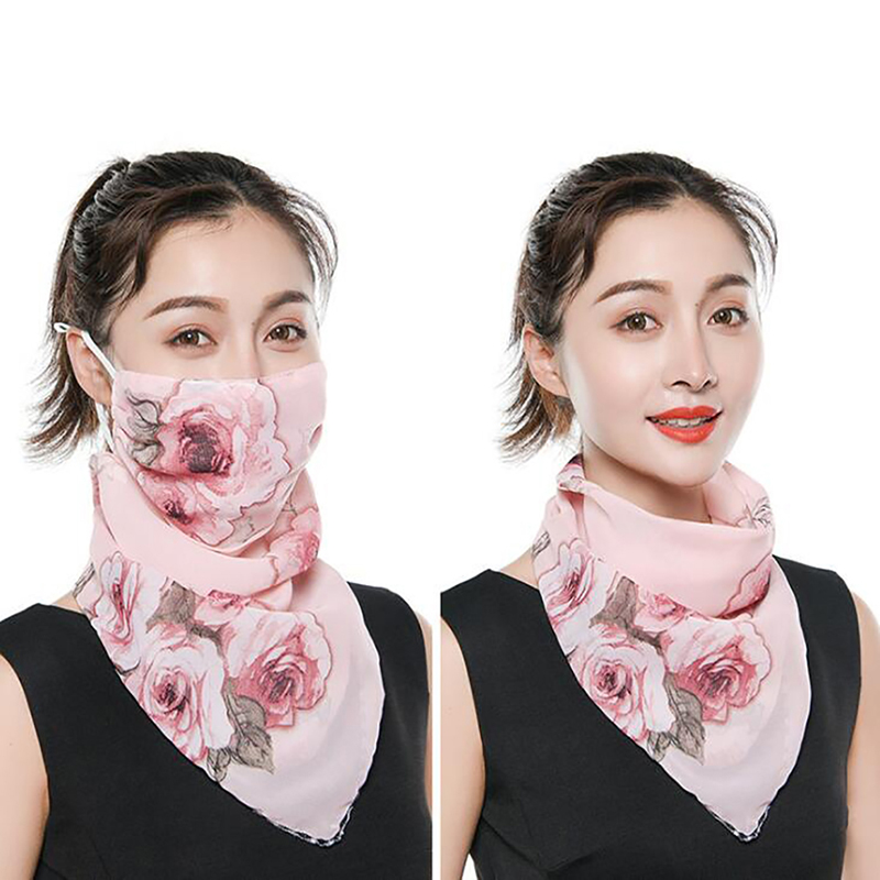 Summer Sunscreen Scarf Women Bib Large Mask Female Neck Breathable Mask Cover Face Anti-UV Quick-drying Veil