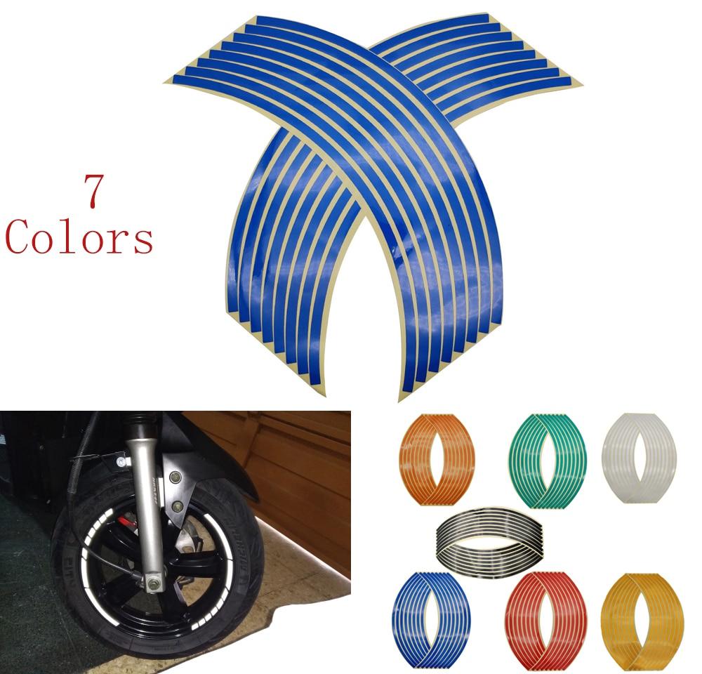16Pcs Universal Waterproof Motorcycle Wheel Rim Reflective Stickers Moto Auto Decal For Yamaha TMAX 500 530 T Max 500 530 XP500