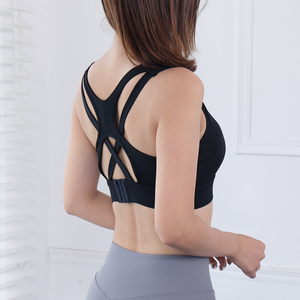 Image 3 - סקסי כושר חזיית נשים עור ידידותי מלא כוס חזייה השפעה גבוהה עם אבזמים תחתונים לנשימה חזייה עבור כושר אימון
