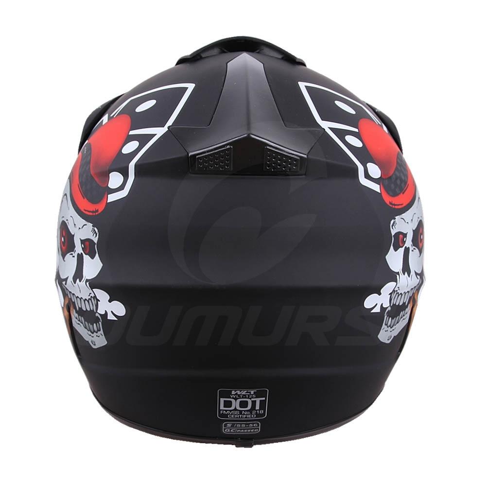 Buy Best Oumurs Dot Motorcycle Helmet Skull Style Adult Motocross Off Road Atv Helmet Online