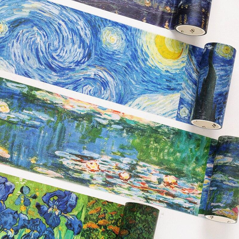 Van Gogh World Masking Tape Classic Wide Washi Tape Diy Decoration Scrapbooking Planner Adhesive Tape Label Sticker