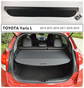 Car Rear Trunk Security Shield Cargo Cover For TOYOTA Yaris L 2014 2015 2016 2017 2018 2019 High Qualit Auto Accessories