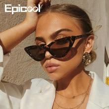 Epistool – lunettes de soleil œil de chat pour femmes, monture en plastique, classiques, rétro, mode, miroir, UV400 oculos