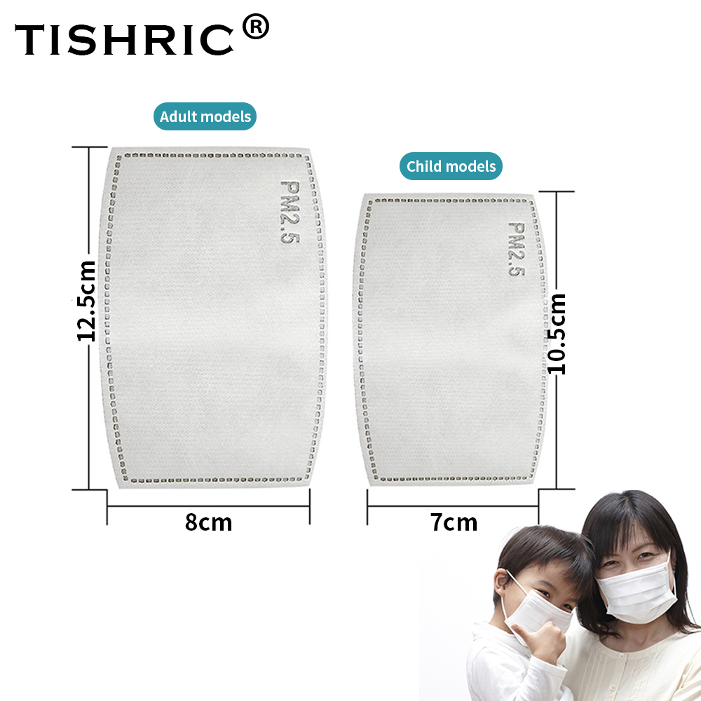 TISHRIC 5 Layer Face Mask N95 Filter Replacement PM2.5 Activated Carbon Anti Dust Antivirus Mask Fliter For FFP2/Respirator Mask
